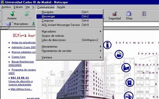 Inicio de Netscape messenger