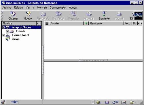Interfaz Gráfica de Netscape Messenger